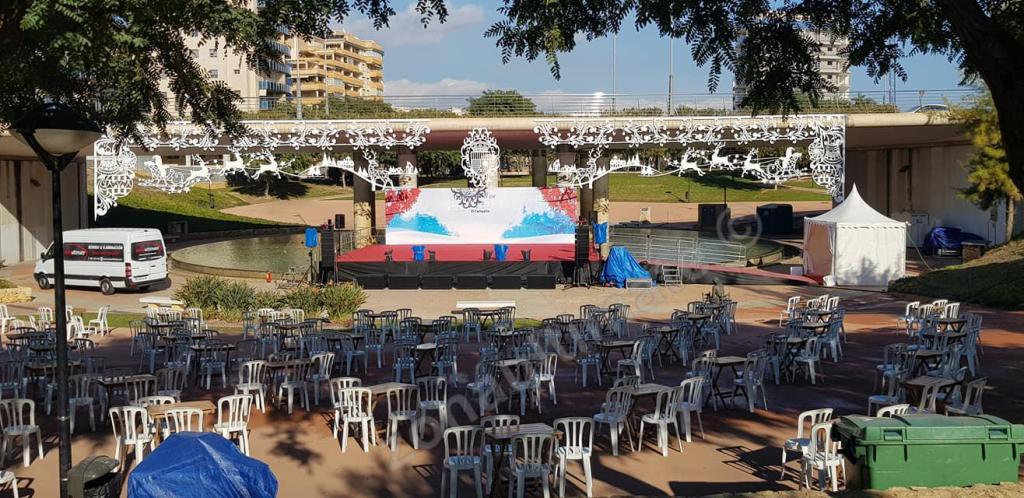 Producción técnica en Aldea de Papa Noel en Parque Central Municipal El Campello Diciembre 2020